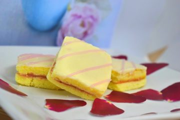 Petit Fours with Bandung Limau and Strawberry Filling
