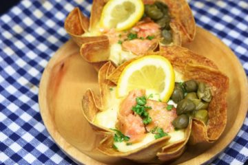Smokey Salmon in Tortilla Cup