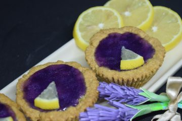 Lemon Lavender Cookie Cups